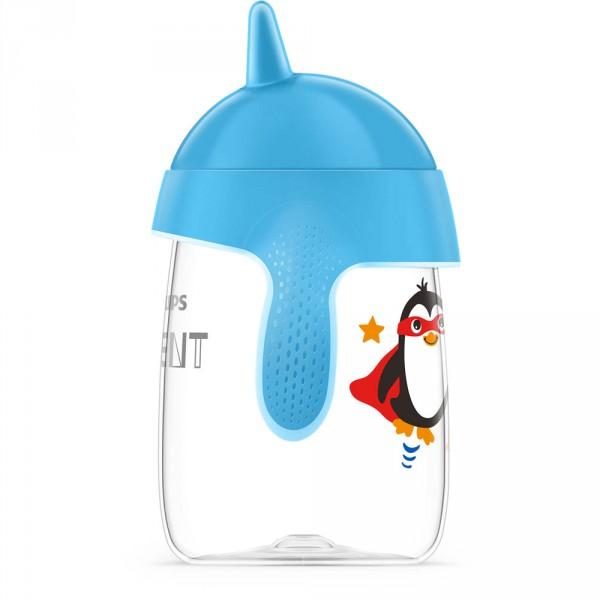 Tasse à bec anti-fuites 340 ml bleue Avent-philips