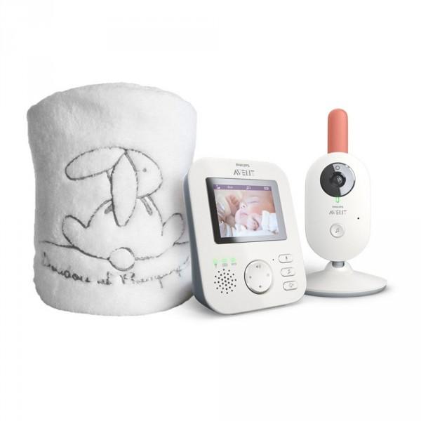 Coffret babyphone video scd625/26+ plaid doudou et compagnie