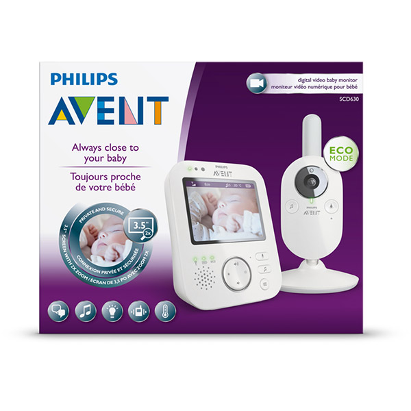 Babyphone video babycam scd630/01 Avent-philips