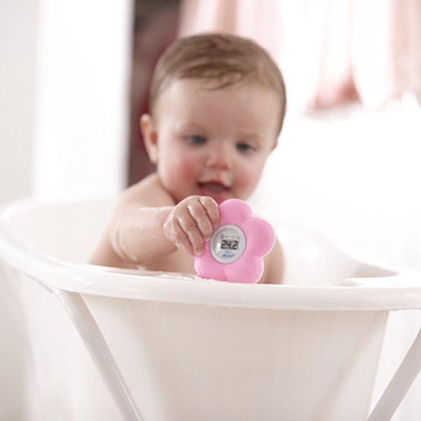 Thermometre bébé de bain et chambre rose Avent-philips