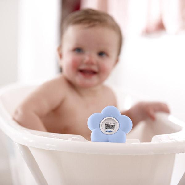Thermomètre bébé de bain et chambre bleu Avent-philips