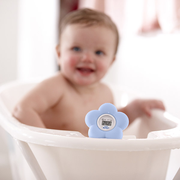 Thermom tre b b de bain et chambre bleu 20 sur allob b - Thermometre chambre bebe ...