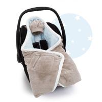 Couverture pour siège auto coton et softy stary dove