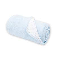 Couverture bébé réversible softy et coton 75x100cm stary frost