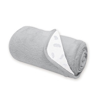Couverture bébé réversible softy et coton 75x100cm pocus grizou