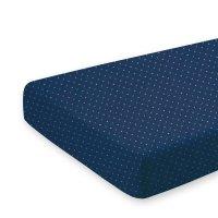 Drap housse bébé 60x120cm yoshi blue