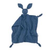 Doudou lange lapin bleu wonder