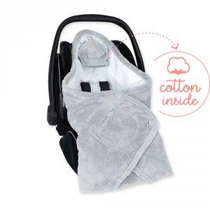 Bemini Couverture pour siège auto coton et softy stary plum