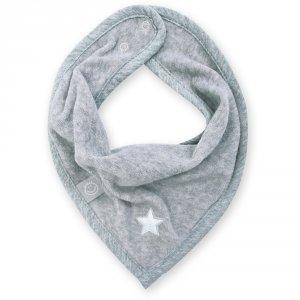 Bavoir bandana stary mixed grey