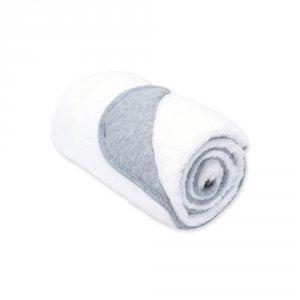 Couverture bébé réversible softy et coton 75x100cm bmini écru