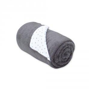 Couverture bébé réversible softy et coton 75x100cm zague pingu