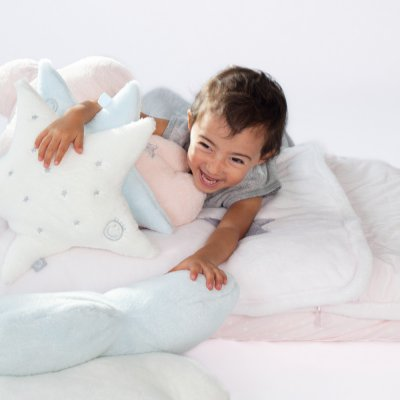 Coussin déco bébé étoile softy stary juicy Bemini