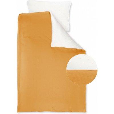 Housse de couette mousseline jersey 100x140cm + taie 40x60cm cadum golden Bemini
