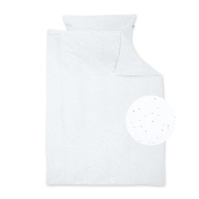 Housse de couette jersey 100x140cm + taie 40x60cm stary white Bemini