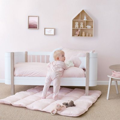 Couverture bébé réversible softy et coton 75x100cm prety Bemini