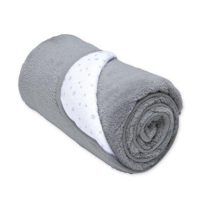 Couverture bébé réversible softy et coton 100x140 stary grizou Bemini