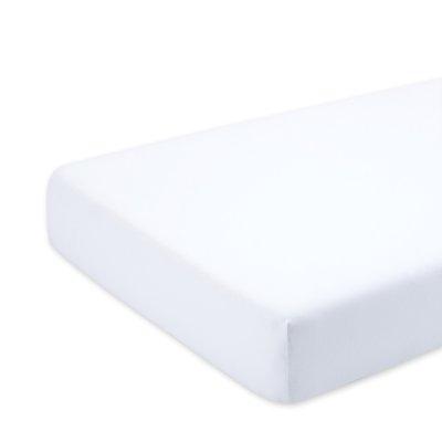 Drap housse bébé 70x140cm blanc snow Bemini