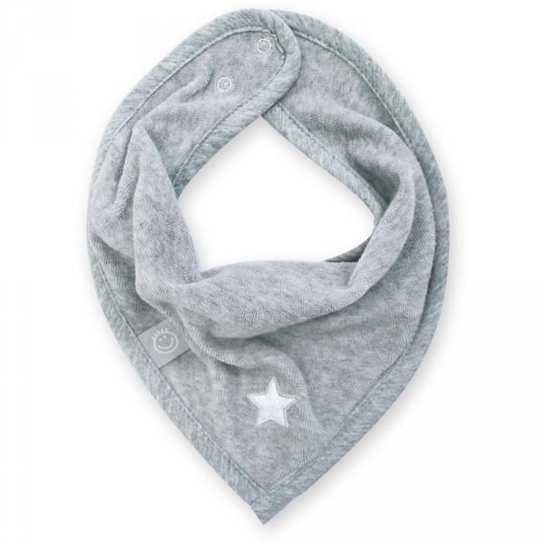 Bavoir bandana stary mixed grey Bemini