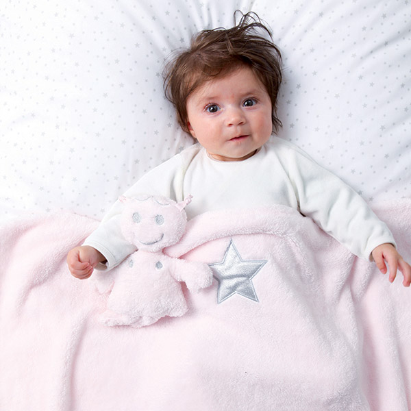 Couverture bébé softy 75x100cm stany cristal Bemini