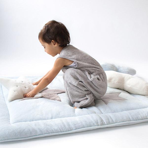 Tapis de parc bébé 100x100cm softy stary frost Bemini
