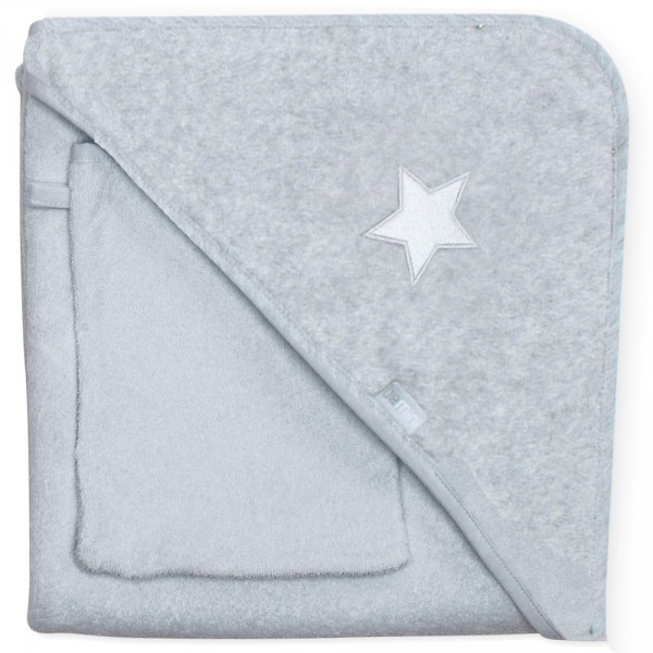 Cape de bain 90x90 stary mixed grey Bemini
