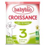 Bio lait de suite croissance à partir de 10 mois 900 g pas cher