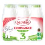 Bio lait de croissance à partir de 10 mois 6 x 1 l pas cher