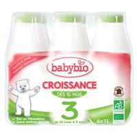 Bio lait de croissance à partir de 10 mois 6 x 1 l