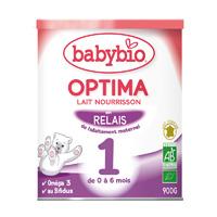 Bio optima 1 lait pour nourrissons 0 à 6 mois 900 g