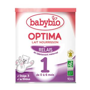 Bio optima lait pour nourrissons 0 à 6 mois 900 g