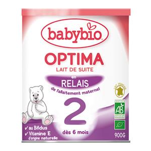 Bio optima lait de suite à partir de 5 mois 900 g