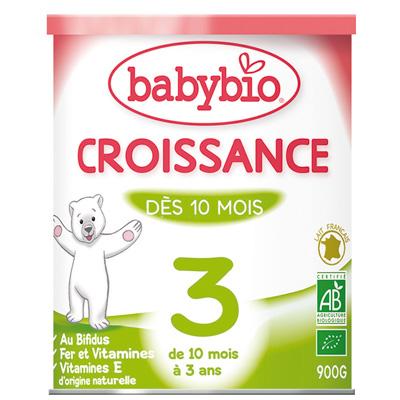 Bio lait de suite croissance à partir de 10 mois 900 g Babybio