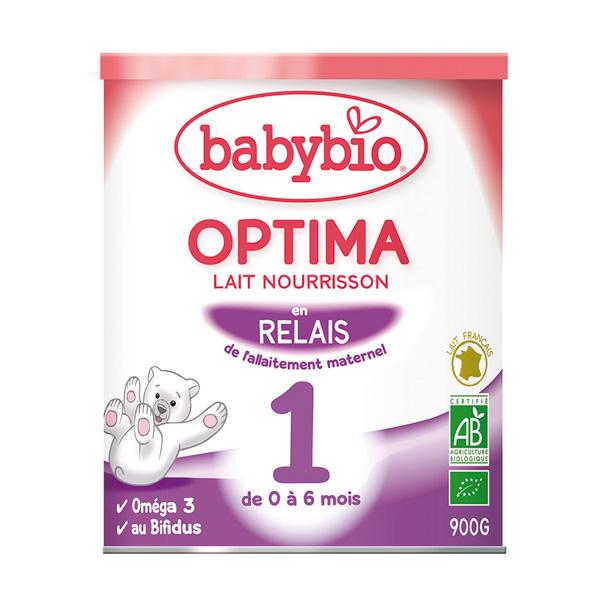 Bio optima 1 lait pour nourrissons 0 à 6 mois 900 g Babybio