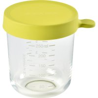 Pot de conservation portion en verre 250 ml neon