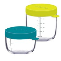 Coffret de 2 portions en verre 150 ml blue + 250 ml neon