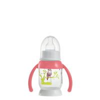 Biberon sans bpa demi-lune bunny poignée pink 120 ml