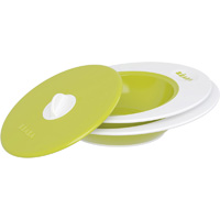 Set assiettes evolutives ellipse gispy vert