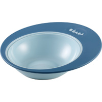 Assiette ergonomique ellipse blue