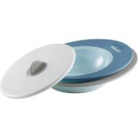 Set assiettes évolutives et couvercle vapeur ellipse blue