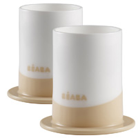 Lot de 2 verres ellipse nude