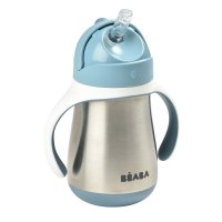 Tasse paille inox 250 ml - windy blue