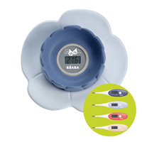 Thermomètre de bain lotus grey/blue + thermomètre bébé thermobip