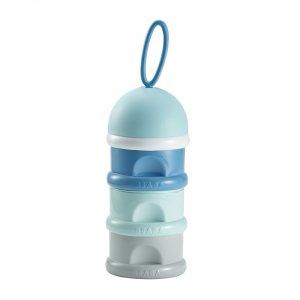 Boîte doseuse de lait empilable blue