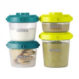 Beaba Lot de 6 portions clip 1 er âge 60 ml et 120 ml blue / neon