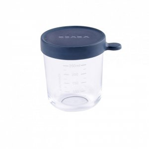 Pot de conservation portion en verre 250 ml dark blue