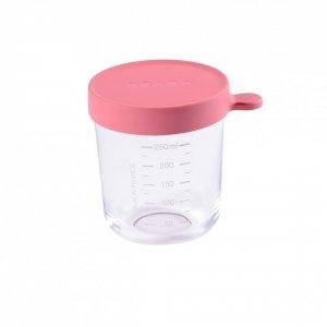 Pot de conservation portion en verre 250 ml dark pink