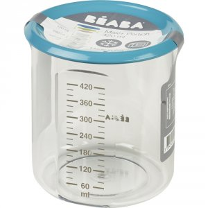 Beaba Pot de conservation maxi + portion 420 ml tritan blue
