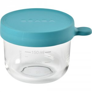 Beaba Pot de conservation portion en verre 150 ml blue