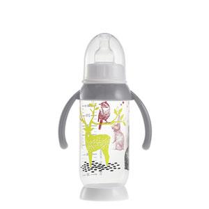 Biberon sans bpa demi-lune bunny poignée grey 240 ml