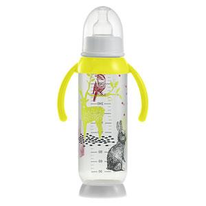 Biberon sans bpa demi-lune bunny poignée yellow 330 ml